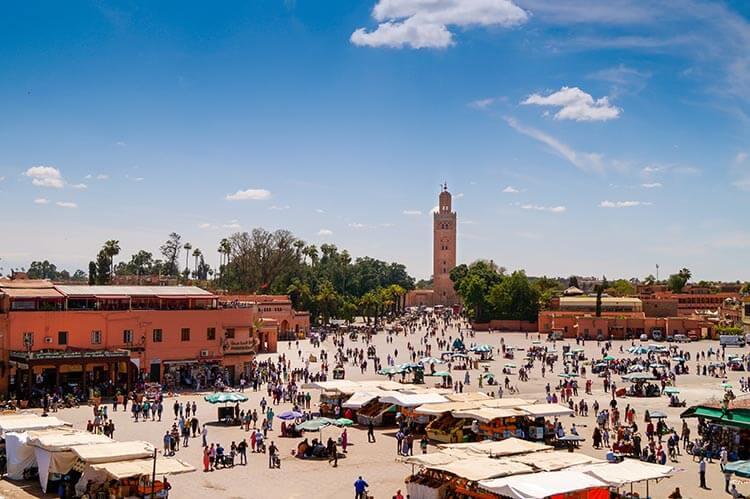 Plein Marrakech met moskee