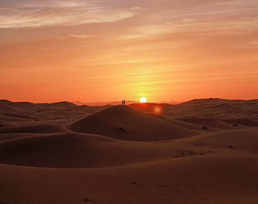 Zonsondergang woestijn Marokko