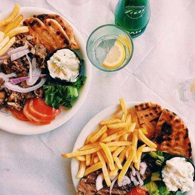 Griekse maaltijd op Zakynthos