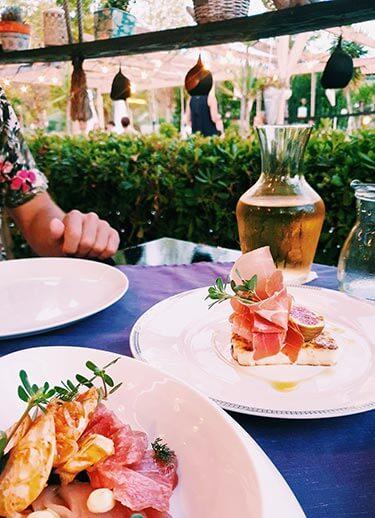 Voorgerecht delen restaurant Essence Zakynthos