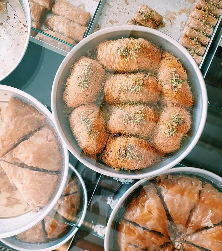 Griekse gebakjes Kataifi