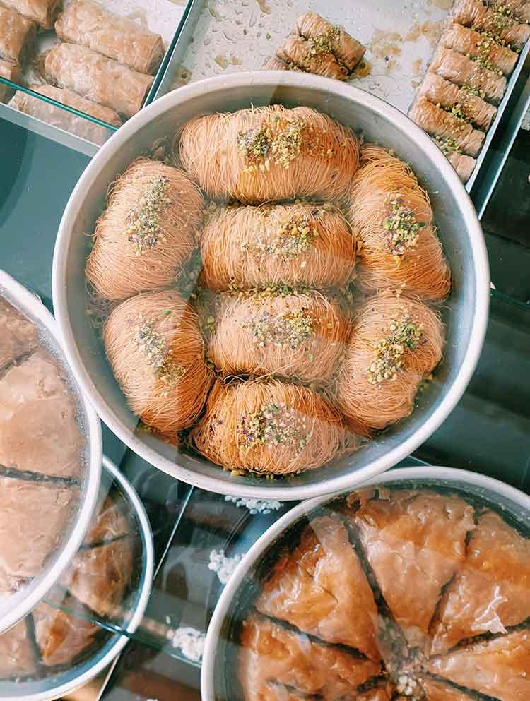 Typisch Griekse gerechten Kataifi