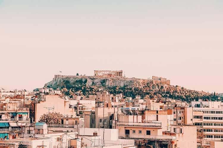 Zonnige stedentrip europa
